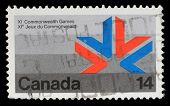 CANADA - CIRCA 1978: A stamp printed in Canada shows a symbol of XI Commonwealth Games with the same