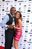 Demetrius Parker and Bridgetta Tomarchio at a screening of