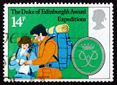 Postage Stamp Gb 1981 Hikers Reading Map