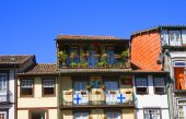 Typical Houses Of Historical Center Of Guimaraes, Portugal poster