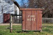 Old Fashioned Fire Hose Box