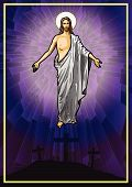 pic of risen  - Vector illustration of the Resurrected Jesus Christ - JPG
