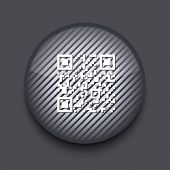 Vector app circle striped icon on gray background. Eps10