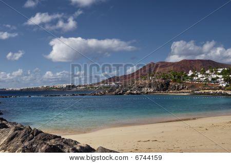 Постер, плакат: Пляж Канарские острова, холст на подрамнике