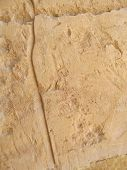 stock photo of hatshepsut  - stone wall in the Temple of Queen Hatshepsut Egypt - JPG