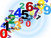 stock photo of numbers counting  - Numbers Maths Indicating Numeric Background And Count - JPG