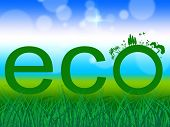 picture of environmentally friendly  - Word Eco Meaning Earth Friendly And Eco - JPG