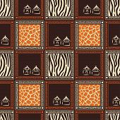 picture of african animals  - Abstract African seamless pattern with skin of wild animal - JPG