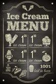 pic of ice-cake  - Ice Cream Poster on Chalkboard - JPG