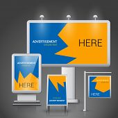 ������, ������: Outdoor advertising template