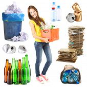 stock photo of reuse recycle  - Recycling concept - JPG