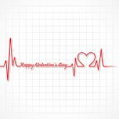 picture of beating-heart  - Valentine greeting with heart  - JPG