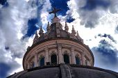 picture of gozo  - Top of Church in Xewkija - JPG