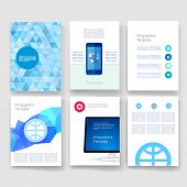 picture of brochure  - Vector brochure design templates collection - JPG