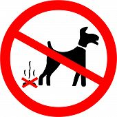 stock photo of dog poop  - Vector Illustration of the No Dog Fouling Symbol - JPG