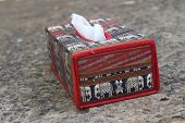 image of tissue box  - Tissue box Elephant is the symbol of Thailand - JPG
