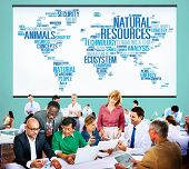 stock photo of environmental conservation  - Natural Resources Conservation Environmental Ecology Concept - JPG