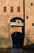 picture of ferrara  - Ancient medieval castle in the downtown of Ferrara - JPG