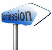 foto of repentance  - confession sins or plea guilty as charged and confess crime testimony or proof truth  - JPG