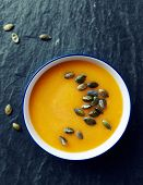 picture of butternut  - Cream of pumpkin soup with pumpkin seeds  - JPG