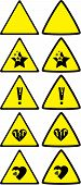 pic of dangerous situation  - Set of under construction signs for variety of life situations - JPG