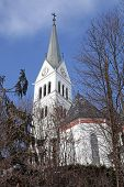 picture of neo  - Neo Gothic Church of Saint Martin at Lake Bled - JPG