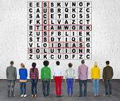 foto of scrabble  - Success Crossword Puzzle Words Achievement Game Concept - JPG
