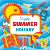 stock photo of signs  - Happy summer holiday  - JPG