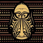 picture of african mask  - African Mask - JPG