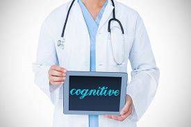 picture of cognitive  - The word cognitive against doctor showing tablet pc - JPG