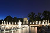 Washington DC - National WWII Memorial at night poster
