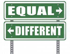 image of all-inclusive  - equal or different equality in rights and opportunity for all no discrimination or racism embrace diversity  - JPG