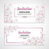 Flower Wedding Invitation poster