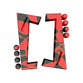foto of alphabet letters  - funny alphabet in red and black - JPG