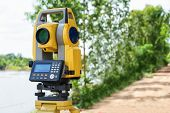 Total Station Or Tst (total Station Theodolite) Is An Electronic/optical Instrument Used In Modern S poster