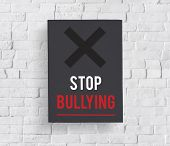 Social Problem Stop Bullying Icon poster