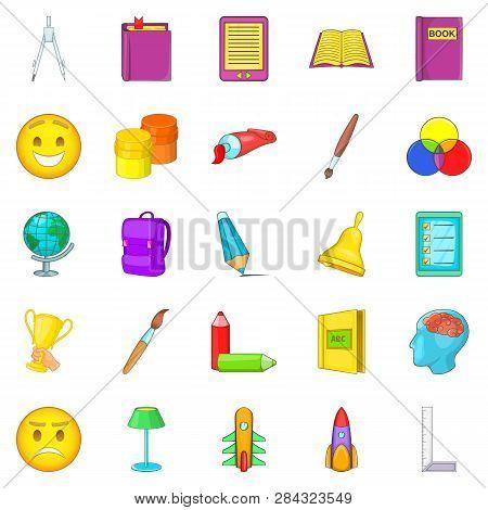poster of Excellent Worker Icons Set. Cartoon Set Of 25 Excellent Worker Icons For Web Isolated On White Backg