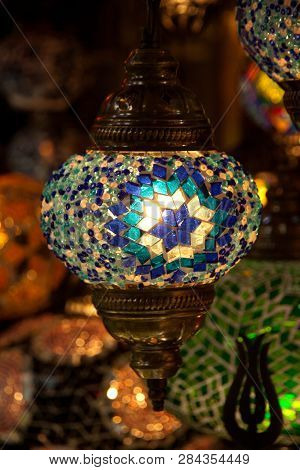 Multicolored Lamp Hanging At The