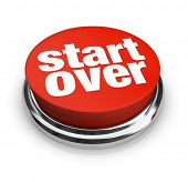 stock photo of start over  - A red button with the words Start Over on it - JPG