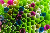 Background From Cocktail Tubes Close Up. Soft Focus. Cocktail Tubes Of Different Colors Close Up. poster