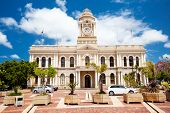 picture of nelson mandela  - city hall of Port Elizabeth - JPG