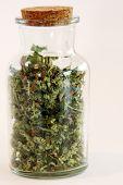 Marijuana. Cannabis. Recreational Marijuana or Medical Cannabis in a glass jar. isolated on white. r poster