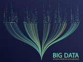 Big Data Analytics Methods And Visualization Concept Vector Design. 0 And 1 Binary Code Data Visuali poster
