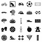 Cycling Clothes Icons Set. Simple Set Of 25 Cycling Clothes Icons For Web Isolated On White Backgrou poster