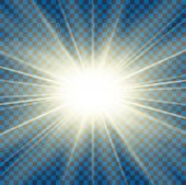 Sun Rays. Starburst Bright Effect, Isolated On Transparent Background. Gold Light Star Flash. Abstra poster
