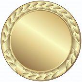foto of gold medal  - gold medal  - JPG