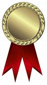 Gold award ribbons - This image is a vector illustration and can be scaled to any size without loss