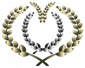 laurel wreath. This image is a vector illustration and can be scaled to any size without loss of res