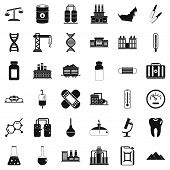 Chemical Barrel Icons Set. Simple Style Of 36 Chemical Barrel Icons For Web Isolated On White Backgr poster