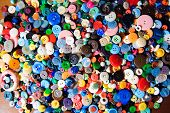 Plastic Buttons, Colorful Buttons Background, Buttons Close Up, Buttons Background poster